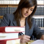 Female Lawyer Researching